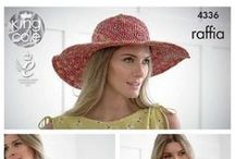 Summer is Raffia / Look cool and stay cool with Raffia, I have Adriafil Rafia, King Cole Raffia and Rico Paper, with designs for Hats and Bags to wear of Baskets and Bowls for the home, Summer is Raffia! www.purplelindacrafts.co.uk