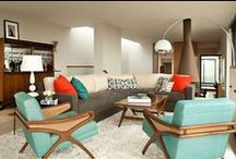 MID-CENTURY MODERN | Living Room / Mid-century modern living rooms and decor accents to bring a mid-century modern touch to your space.