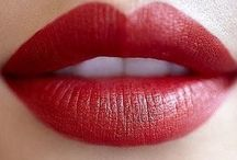 lips | colours | red / Red mood board