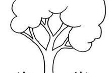 riscos de bordados árvores