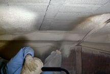 Kruipkelderisolatie Isolation de cave / Kruipkelderisolatie Werkwijze?  Isolation cave, plafond de cave