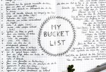 """Bucket List / """"I'm going to see the world."""" ✈️"""