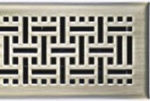 Contemporay to Cottage / Whether your home personifies a classic, traditional or modern look, the intricate lattice arrangement of these floor registers compliment any style and are offered in a variety of hardware finishes.