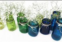 Tarros de cristal / Estoy guardando pequeños tarros de cristal y busco en pinterest la inspiración para decorarlos