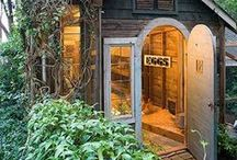 Garden Sheds  / Great lighting can transform a garden shed into a private hideaway