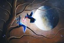 Moon in ART / Artwork with the moon featured #art #fullmoon #moons #moonlight