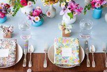 Mesa Posta / Decoração de mesa de café da manhã, almoço e jantar