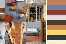 Moodboard 2: Autumn happiness / Autumn colours combined with nude The nude colors, like white and beige softenes the palette, while the orange and wood gives the interior a warm glow.