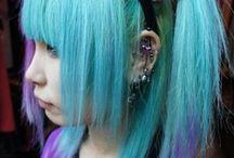 Unicorn ღ / Beautiful hair (like a fuckin rainbow !) and beautiful people ~