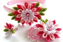 paper, fabric flower, ...