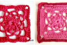 crochet motiv, crochet granny square diagram, edgins