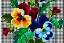 embroidery patterns 2- flowers, abcd
