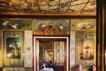 Sala Cinese - The Chinese Room   Caffè Florian Venezia / Mysterious and exotic atmospheres in the Pompadour-style Room. Decorated by the italian artist Antonio Pascutti   Caffè Florian Venezia