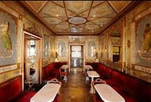 Sala Orientale - The Oriental Room   Caffè Florian Venezia / The Oriental Room is the most intriguing and sharming hall in Caffè Florian. It was adorned with paintings by the Venecian Giacomo Casa in the second half of the 19th century.