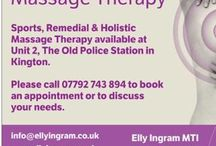 Massage / Elly Ingram Massage Therapist, Kington Herefordshire, 07792743894 www.ellyingram.co.uk