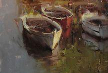 Tibor Nagy / Oil painted scenery