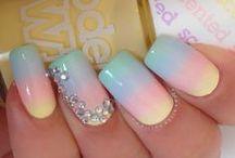 Pretty Nails, Amazing hairstyles, & Hairs Straightener / Attractive nails design & elegant hairstyles