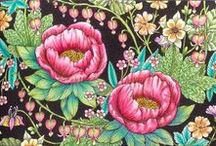 Maria Trolle - Blomster Mandala / Colorings of the beautiful adult coloring book Blomster Mandala by Maria Trolle