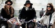 Cycling in: winter / Cycling doesn't have to stop in the winter. Brave the cold and pedal. Plenty of examples how to stay stylish on your bike in the winter!
