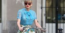 Celebs on their bikes / Yes celebrities cycle too. Check out their style.