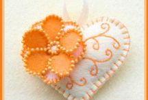 textil szívek