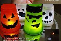 Halloween / Halloween, Kürbisdeko, Schminke, Halloweenessen