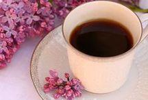 Coffee + flower - cafea + flori / #cafea si #flori - #Coffee and #flowers