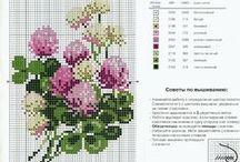 Flowers - flori - Blumen / schite motive modele tipare de cusut si brodat, cross stitch patterns