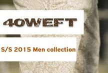 S/S 2015 40 WEFT Men / Take a look to our new men 's collection S/S 2015. For him, a rich color palette, for top and bottoms. Cargo, Chino and Bermuda are the garments that dominate the collection.