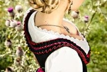 dirndl - oktoberfest - costum german / A must have for Oktoberfest -  Dirndl couture, hairstyle and accessories from Germany and Austria