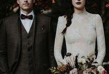 Soft gothic wedding