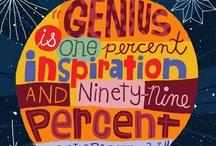 Inspirational Sayings + Art