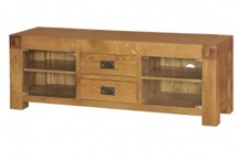 Solid Oak TV Cabinets & Media Units