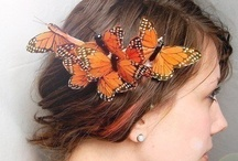 Winged Hair clips / Butterfly and moth wing designs, colors and patterns can be replicated and made into unique hair clips, with one or both wings or into clusters.  The wings can be changed or adjusted to create wings not found in nature.
