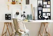 Office Space / Scandinavian office, work space, home design, home office