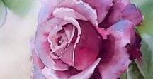 Přáníčka + krása malovaných květů / Přáníčka a malba květin
