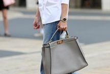 HOW TO LOOK CHIC | STREET STYLE / We're staying neutral...for the most part. | Street style, fashion, outfits, chic, neutrals, denim, fashion inspiration, women's fashion, fall style, spring style, fashion blog, Kendall Jenner, Kylie Jenner, Gigi Hadid, Kim Kardashian.