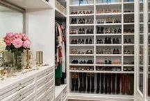 CLOSETS / Beautiful closets and great ideas for organizing them
