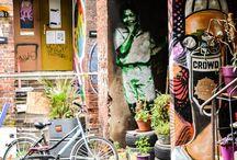 Hamburg und Graffitis / Graffiti - Kunst in Hamburg. Die bunten Hingucker prägen das Stadtbild.