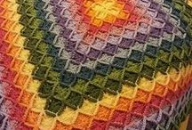 "Crochet Wool Eater Blanket – Free Pattern and Inspirations / Featured stitch, which is the ""Wool Eater"" or ""Bavarian"" stitch which can easily be turned into a beautiful baby blanket or afghan. #crochet"