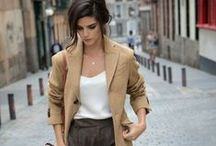 Neutral color outfit / How to style outfits in nude, beige, caramel and neutral colors? What makeup goes well with clothes in beige and neutral color? / by Match Clothes Colors