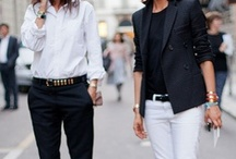 Black and white in one outfit / by Match Clothes Colors