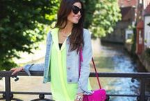 Neon Clothes how to match / by Match Clothes Colors