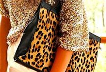 Animal Prints Coordinates / How to wear animal prints? They look perfect as accessories for outfits with neon and bold colors, like red and cobalt. Pair them up with neutrals, and you can wear them even as statement pieces. / by Match Clothes Colors