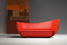 Mon Coeur and Mon Petit Coeur- design by Peter Harvey / A triumph of craftsmanship, a sofa and armchair which imitate the lines of a heart. A precious piece of handiwork which requires maximum technical know-how.