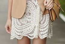 Lace, crochet and nets / by Match Clothes Colors