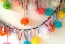 SUPPLY Pom Pom Fan Garland Banner / Supply Sources