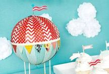 PARTY Hot Air Balloon / by Digital Printables ◆ WhilstDigitalStash   Whilst