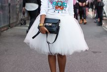 Tutu and tulle skirts in outfits / How to style tutu skirts / by Match Clothes Colors