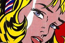 Pop Art / In the late 1950's and early 1960's the pop art movement took the United States by storm. Pop art uses images and aspects of popular culture such as logos, comics, and other cultural influences all while combining it with fine art. The movement was a foundation for famous artists such as Andy Warhol, Roy Lichtenstein, and Robert Rauschenberg.